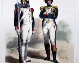 Gravure - Grenadier à pied Garde Impériale 1804/1812 - Gravure Lalaisse - 1er Empire
