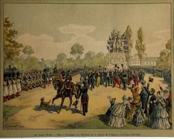 Calendrier Imprimerie Alsacienne - Huen Victor - Rattachement de l'Alsace à la France 1648/1848