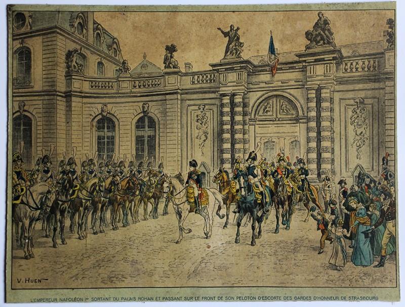 Calendrier Imprimerie Alsacienne - Huen Victor - Napoleon 1er Garde d'honneur de Strasbourg- 1er Empire