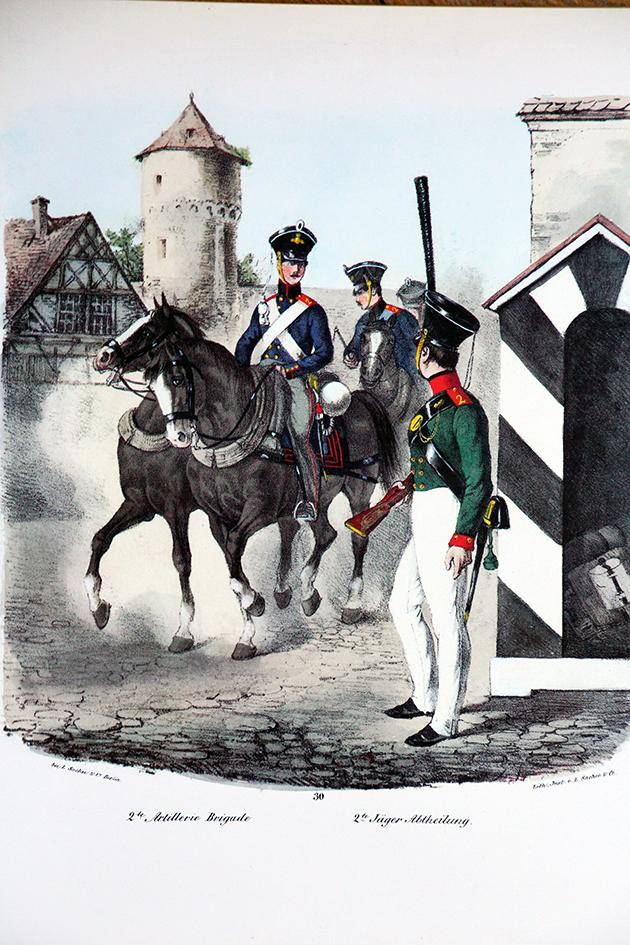 Lot de 27 planches Heere der Vergangenheit - Olmes - Uniforme - Armée Prussienne