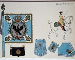 Lot de 18 planches Heere der Vergangenheit - Olmes - Uniforme Soldaten Friedrichs des Grossen - Cuirassiers