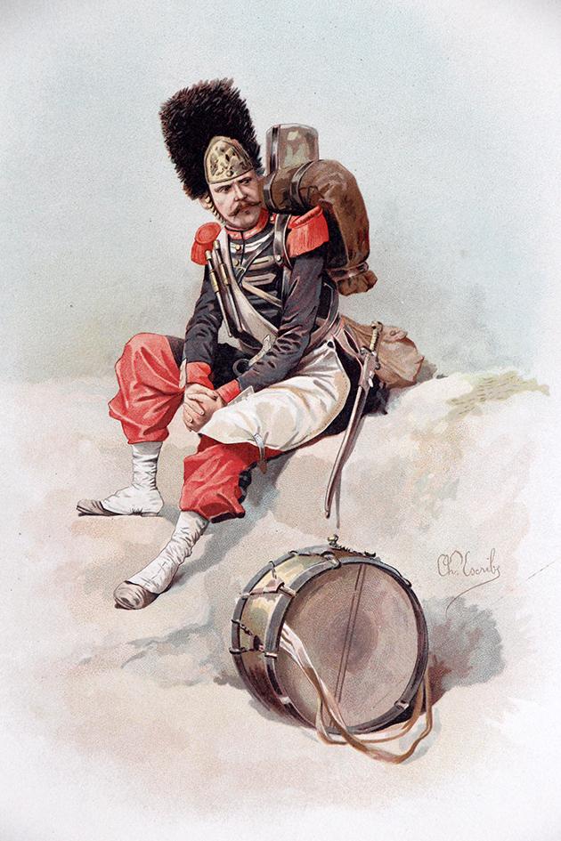 Grenadier à Pied de la Garde Second Empire - Chromolitho - XIX siècle - Charles Escribe
