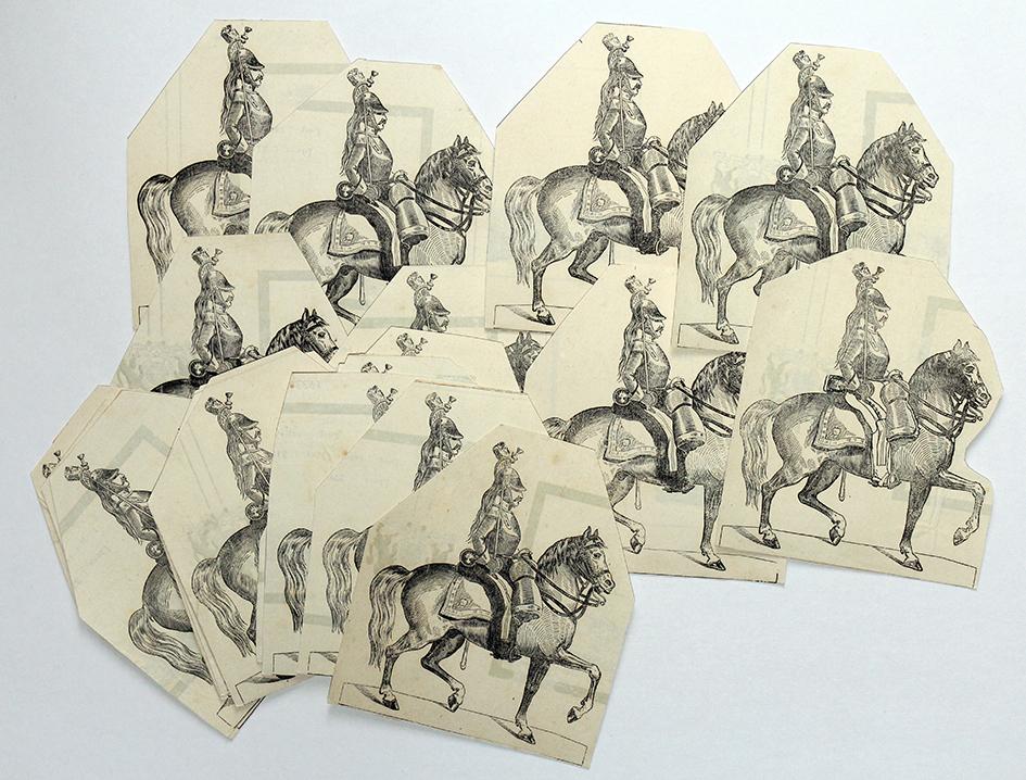 Petits Soldats de Strasbourg - Dragons 1845 - Cavalerie - Planche Silbermann