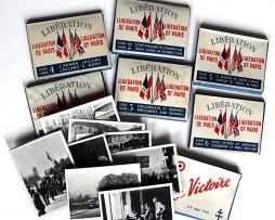 7 petites pochettes avec 10 cartes photos noir et blanc