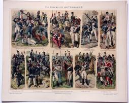 Uniformes 1er Empire - Planche Knötel Richard - Troupes diverses