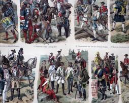 Uniformes Guerres en Dentelles - Planche Knötel Richard - Troupes diverses