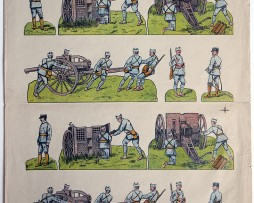 Planche imagerie Wissembourg guerre 1914/18 armée française Artillerie
