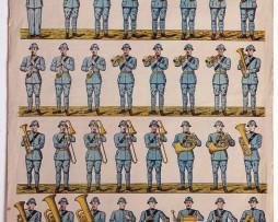 Planche imagerie Wissembourg guerre 1914/18 armée française Musique