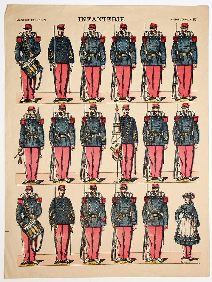 Planche imagerie Epinal guerre 1914/18 armée française