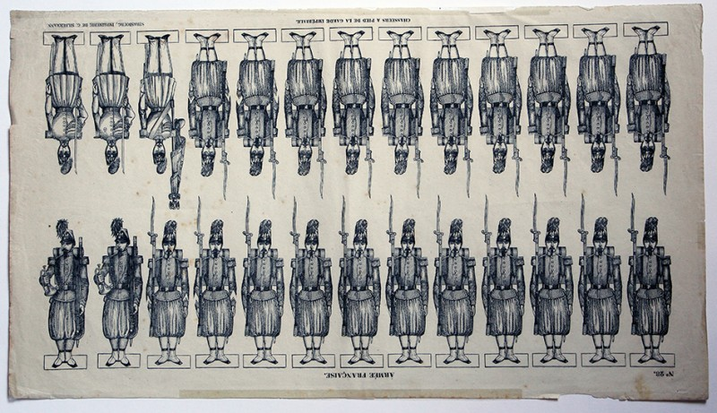 Petits Soldats de Strasbourg - Chasseurs Garde Second Empire 1855 - Planche Silbermann