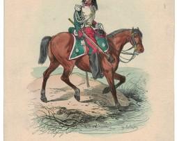 2 Gravures coloriées - Garde Impériale - Dragons et Train des Equipages - 1855 - Lalaisse