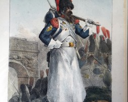 Gravure Lithographie coloriée de Charlet - Sapeur Grenadier à Pied Garde Impériale - Gravure XIX