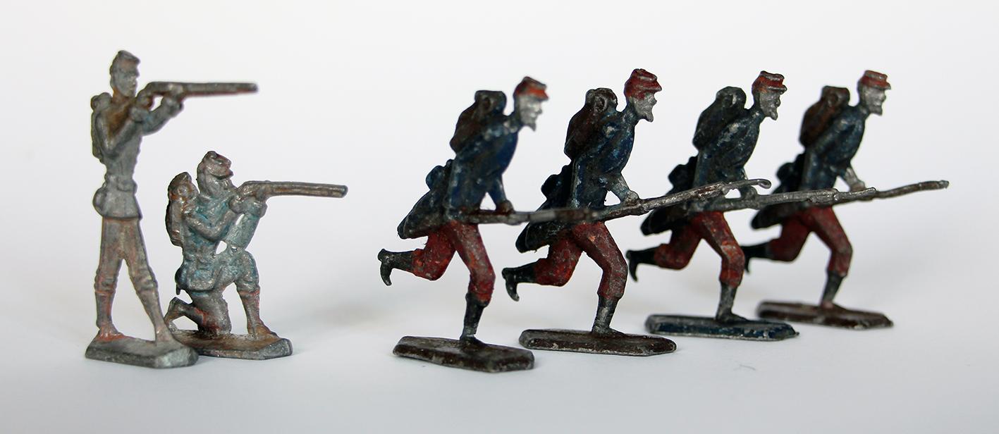 Lots de 6 figurines anciennes sans marque début XXeme