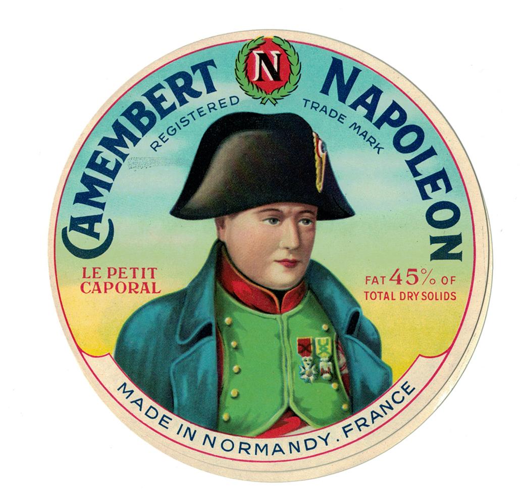 Ancienne étiquette Fromage France Camembert Napoléon Petit Caporal