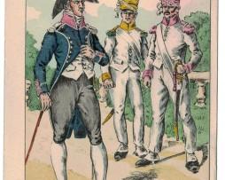 Carte Bucquoy - Les Uniformes du 1er Empire - La division des Iles Ioniennes 129 sérIe - Carte 3 et 2