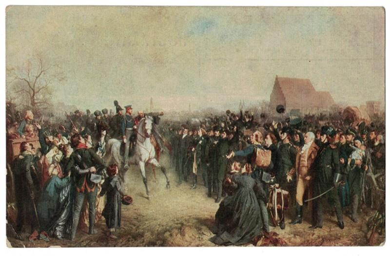 2 Cartes Guerre de Libération 1813 - Prusse Blücher - Passage du Rhin - Befreiungskriege
