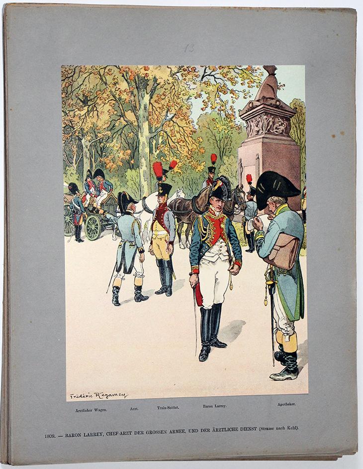 Les garnisons d'Alsace - Gravure Frédéric Regamey - Baron Larrey Médecin de la Grande Armée1809