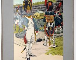 Les garnisons d'Alsace - Gravure Frédéric Regamey - Artillerie a Pied de la Garde 1809/1810