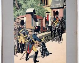 Les garnisons d'Alsace - Gravure Frédéric Regamey - Gendarmerie de la Garde 1809