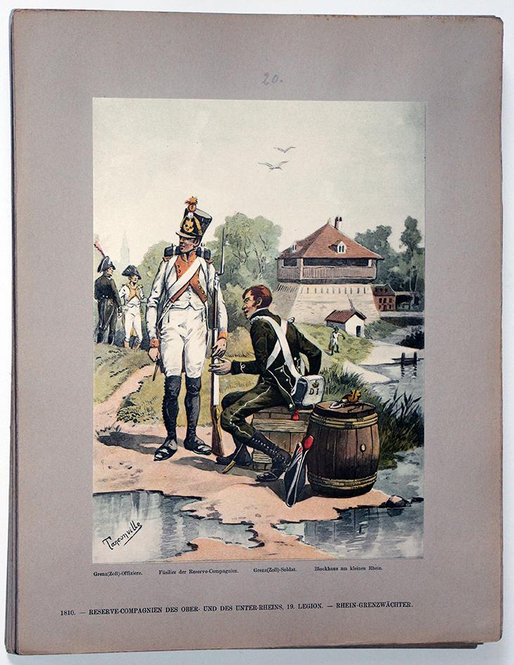 Les garnisons d'Alsace - Gravure Tanconville - Légions 1810