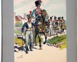 Les garnisons d'Alsace - Gravure Tanconville - Garde Nationale 1813/1815