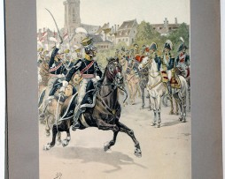 Les garnisons d'Alsace - Gravure Tanconville - Garde Nationale de Colmar