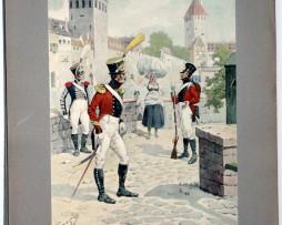 Les garnisons d'Alsace - Gravure Tanconville - Régiment Suisse de Steiger 1818