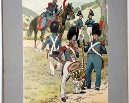 Les garnisons d'Alsace - Gravure Regamey - Garde Nationale de Strasbourg 1820