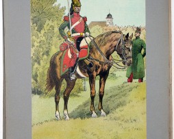 Les garnisons d'Alsace - Gravure Régamey - Dragons à cheval 1831