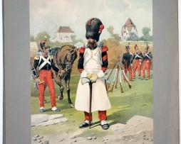 Les garnisons d'Alsace - Gravure Tanconville - Infanterie Ligne 1835