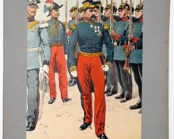 Les garnisons d'Alsace - Gravure Regamey - Général Ducrot Strasbourg 1869