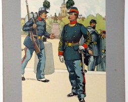 Les garnisons d'Alsace - Gravure Regamey - Garde Mobile de Colmar 1870
