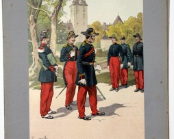 Les garnisons d'Alsace - Gravure Tanconville - Médecin 1870 Strasbourg