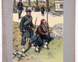Les garnisons d'Alsace - Gravure Regamey - Francs Tireurs Strasbourg 1870 (Copier)