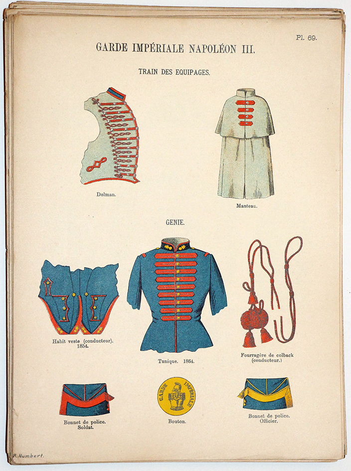 Lienhardt et Humbert - Uniformes de l'armée Française - TIII - Planche 69 - Garde Impériale Napoléon III