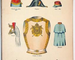 Lienhardt et Humbert - Uniformes de l'armée Française - TIII - Planche 67 - Garde Impériale Napoléon III