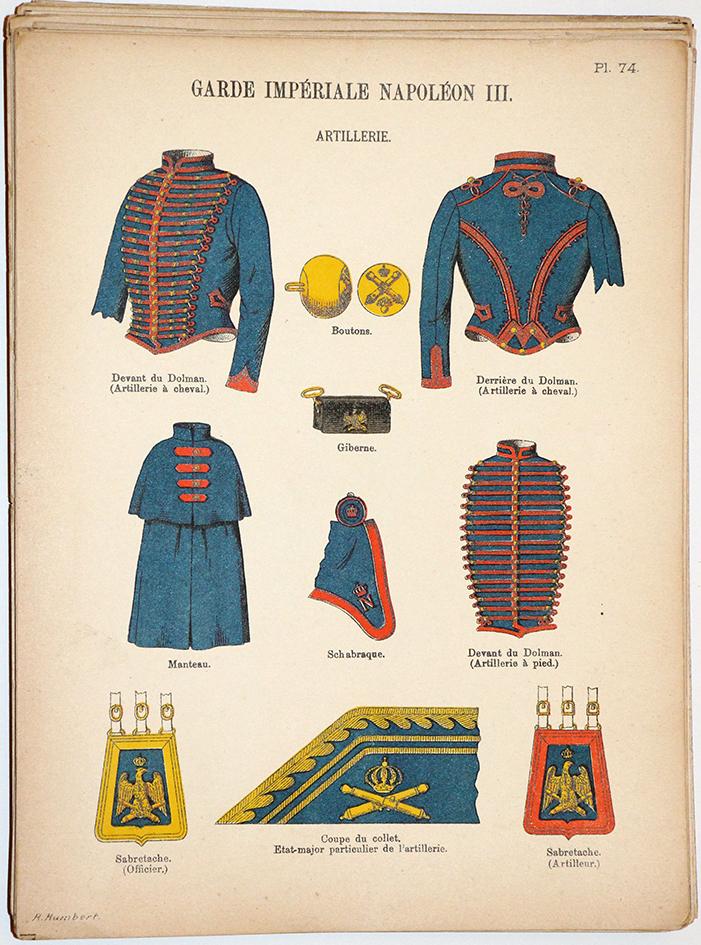 Lienhardt et Humbert - Uniformes de l'armée Française - TIII - Planche 74 - Garde Impériale Napoléon III