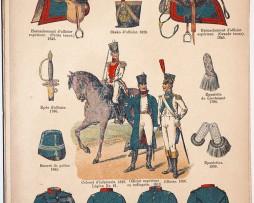 Lienhardt et Humbert - Uniformes de l'armée Française - TIII - Planche 46 - Infanterie généralités