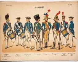 Lienhardt et Humbert - Uniformes de l'armée Française - TomeIII - Pl49 - Infanterie 1772-1812