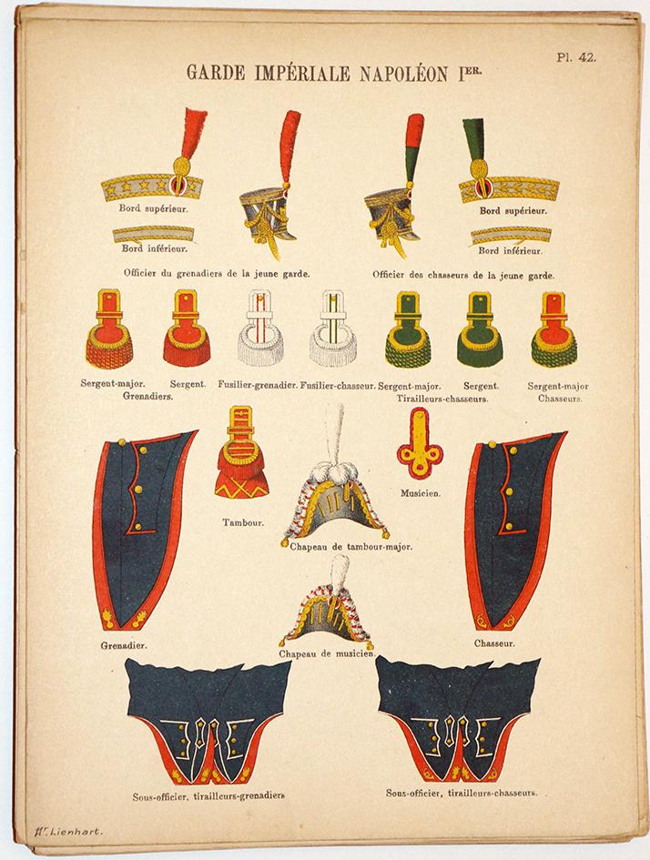 Lienhardt et Humbert - Uniformes de l'armée Française - TomeIII - Pl42 - Garde Impériale Napoléon 1er