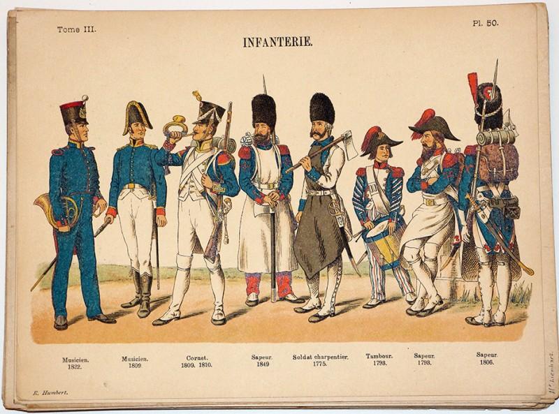 Infanterie Généralités Uniforme 1772-1822