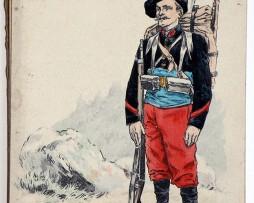 Uniforme Infanterie Alpine 1880 - Kauffmann