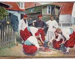 Lot de 3 cartes postales Zouaves en campagne - Carte 1890 - La popote