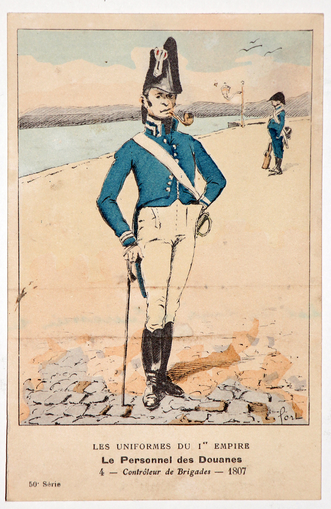 Carte Bucquoy - Les Uniformes du 1er Empire - Série 50 - Carte 4