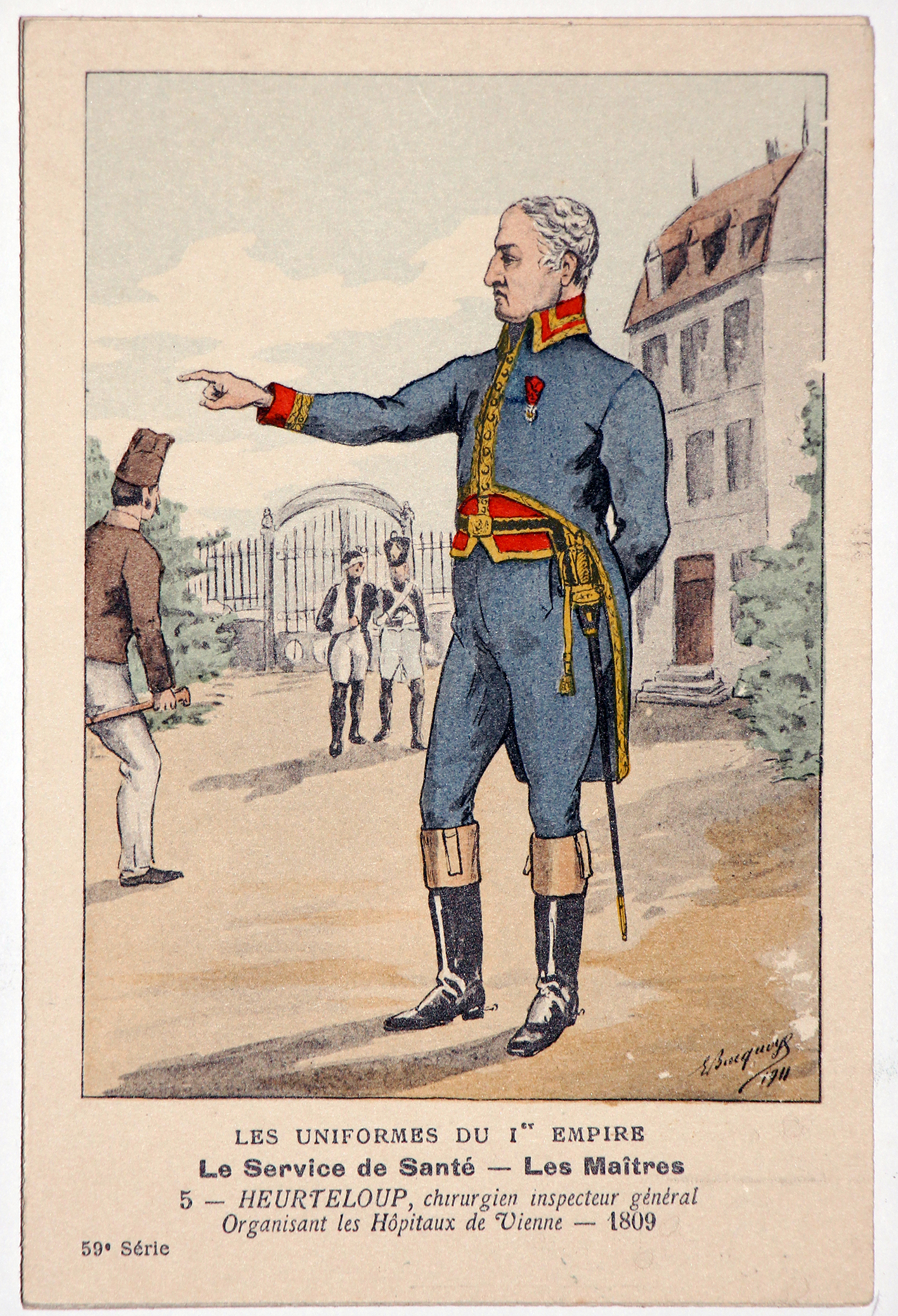 Carte Bucquoy - Les Uniformes du 1er Empire - Série 59 - Carte 5