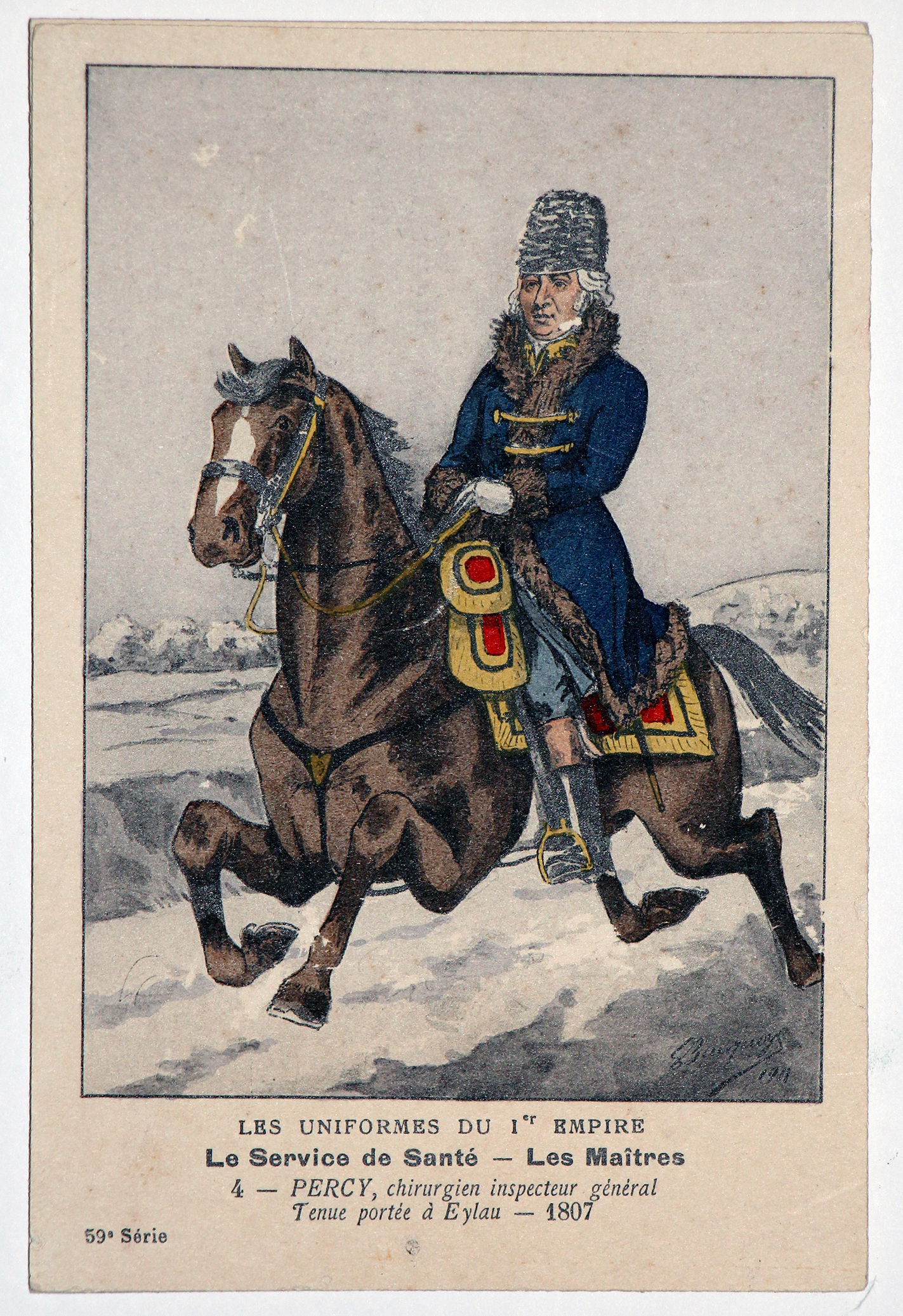 Carte Bucquoy - Les Uniformes du 1er Empire - Série 59 - Carte 4