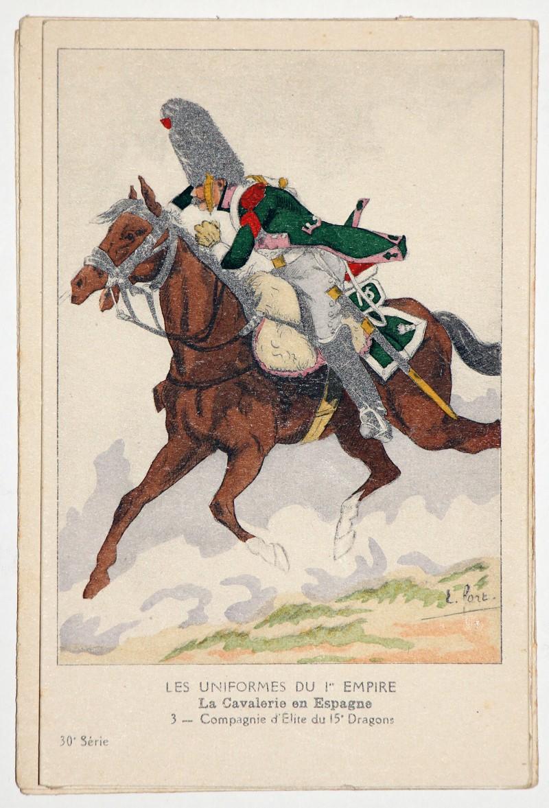 Carte Bucquoy Les uniformes du 1er Empire
