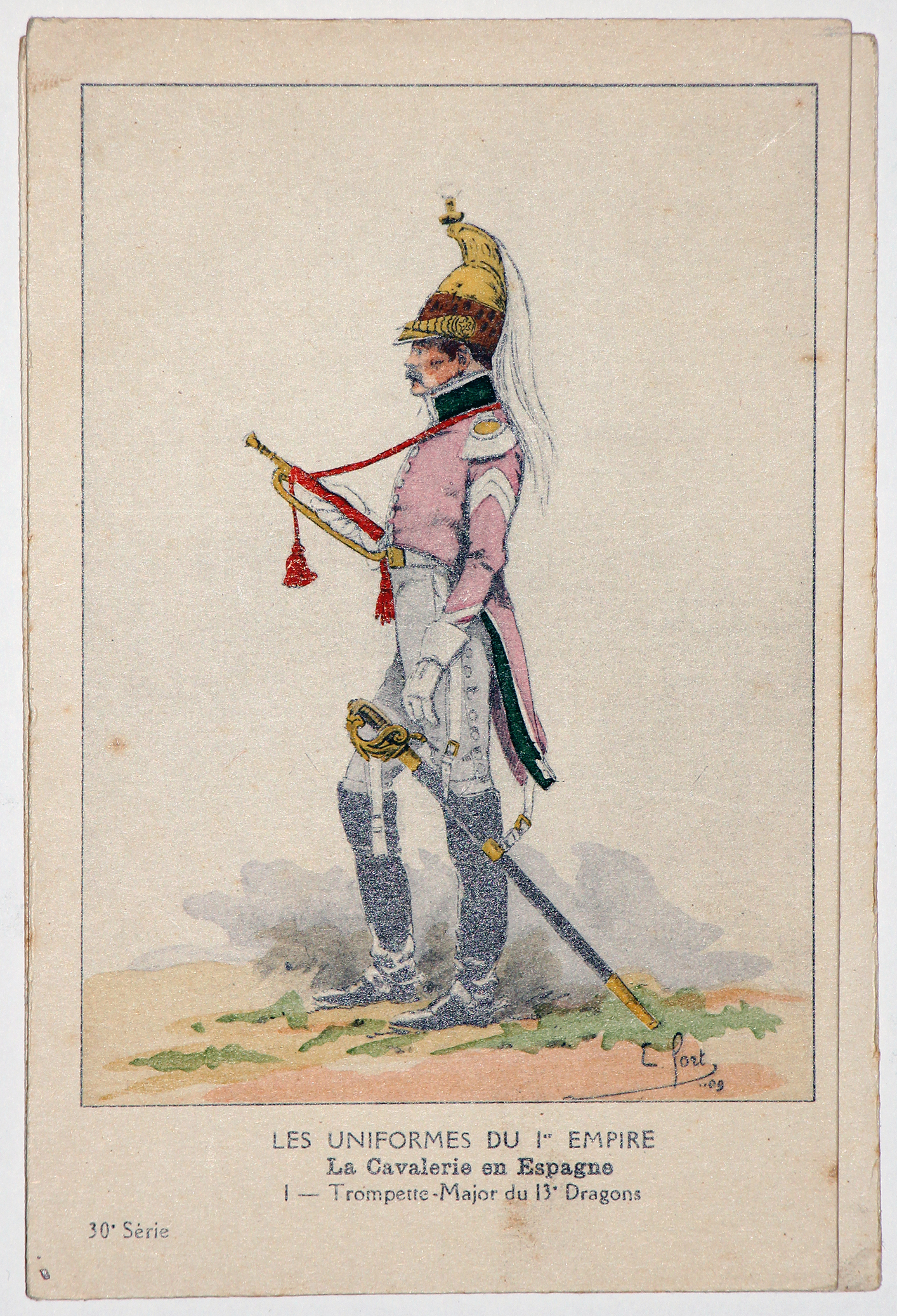 Carte Bucquoy - Les Uniformes du 1er Empire - Série 30 - Carte 1