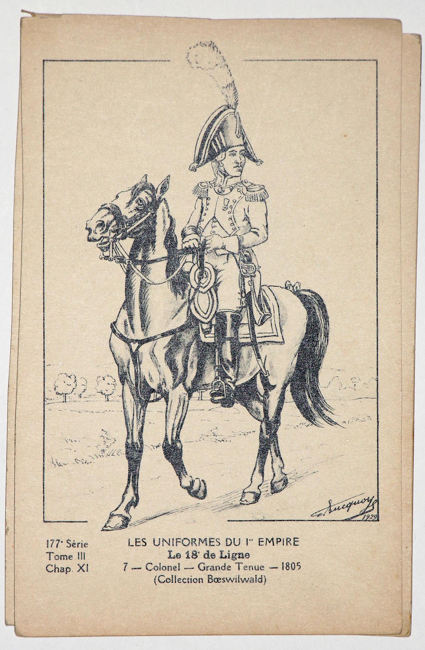 Carte Bucquoy - Les Uniformes du 1er Empire - Série 177 - N°7/4/3