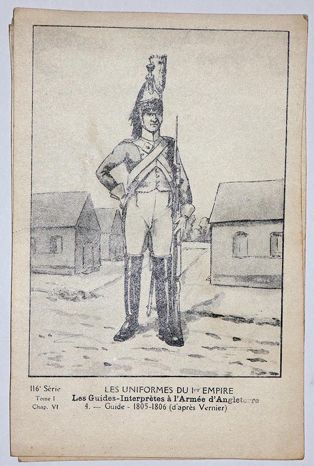 Carte Bucquoy - Les Uniformes du 1er Empire - Série 116 - N°8/7/4/6/3/5